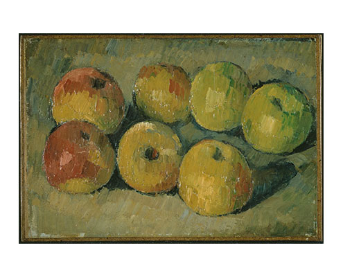 Paul Cézanne - Still Life with Apples, circa 1878, oil on canvas. Copyright © The Provost and Fellows of King's College, Cambridge, UK