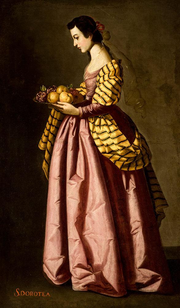 Francisco Zurbarán - Santa Dorotea c1640-1650 © Museo de Bellas Artes Sevilla