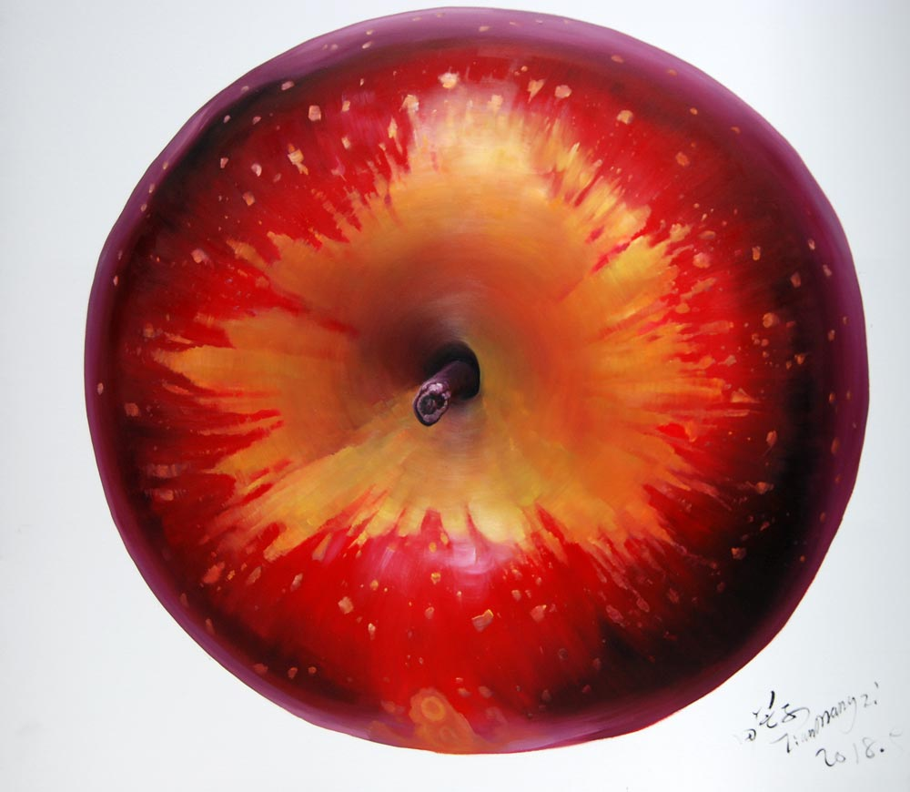 Mangzi Tian - Apple planet © the artist