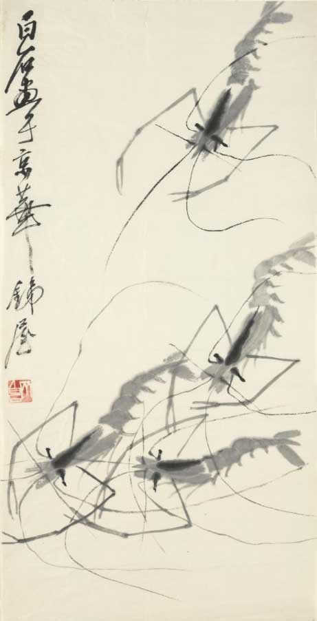 Qi Baishi-Shrimps 1900s © Cleveland Museum of Art Gift of Dr. and Mrs. Sherman E. Lee
