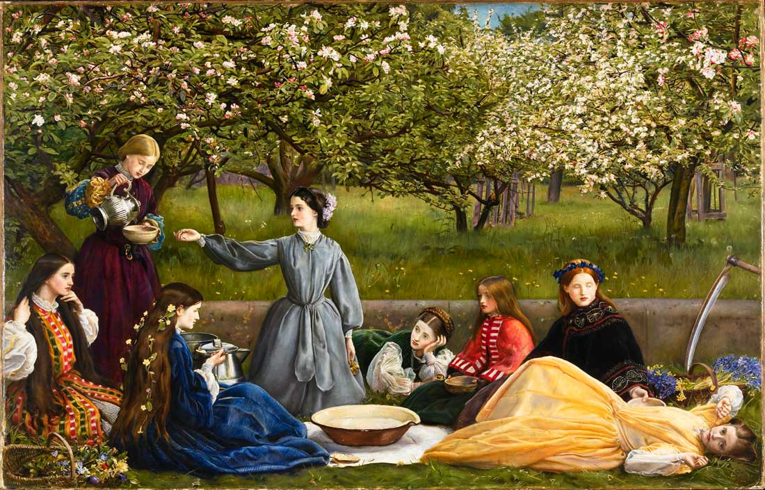 John Everett Millais, Spring Apple Blossoms 1856 Courtesy National Museums Liverpool, Lady Lever Art Gallery