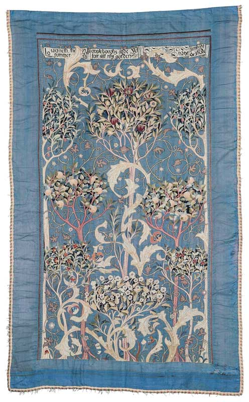May Morris (designer) - Theodosia Middlemore (embroiderer) - The Orchard ('A Fruit Garden') 1894 © Victoria and Albert Museum