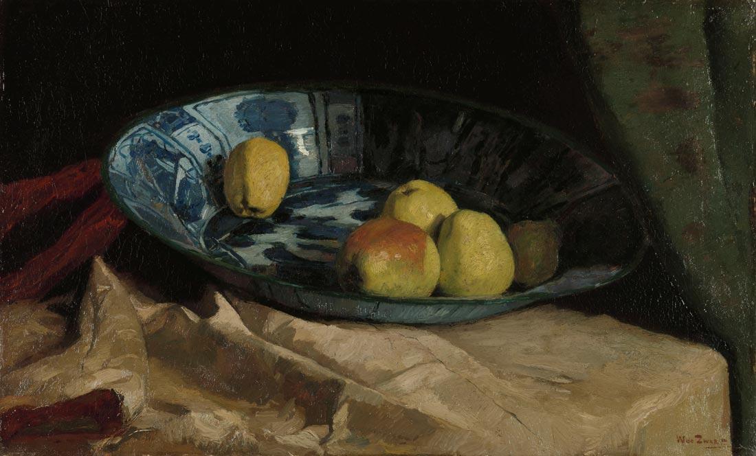 Willem de Zwart - Apples in a Delft Blue Bowl 1880-1890 © Rijksmuseum, Amsterdam