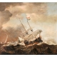 Willem van der Velde the Younger - Shipping in a Rough Sea 1633-1707 © National Trust Images Tatton Park