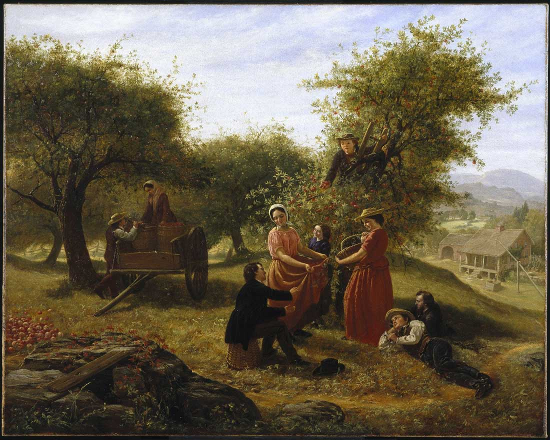 Jerome Thompson - Apple Gathering, 1856 © Brooklyn Museum, Dick S. Ramsay Fund and funds bequeathed by Laura L. Barnes