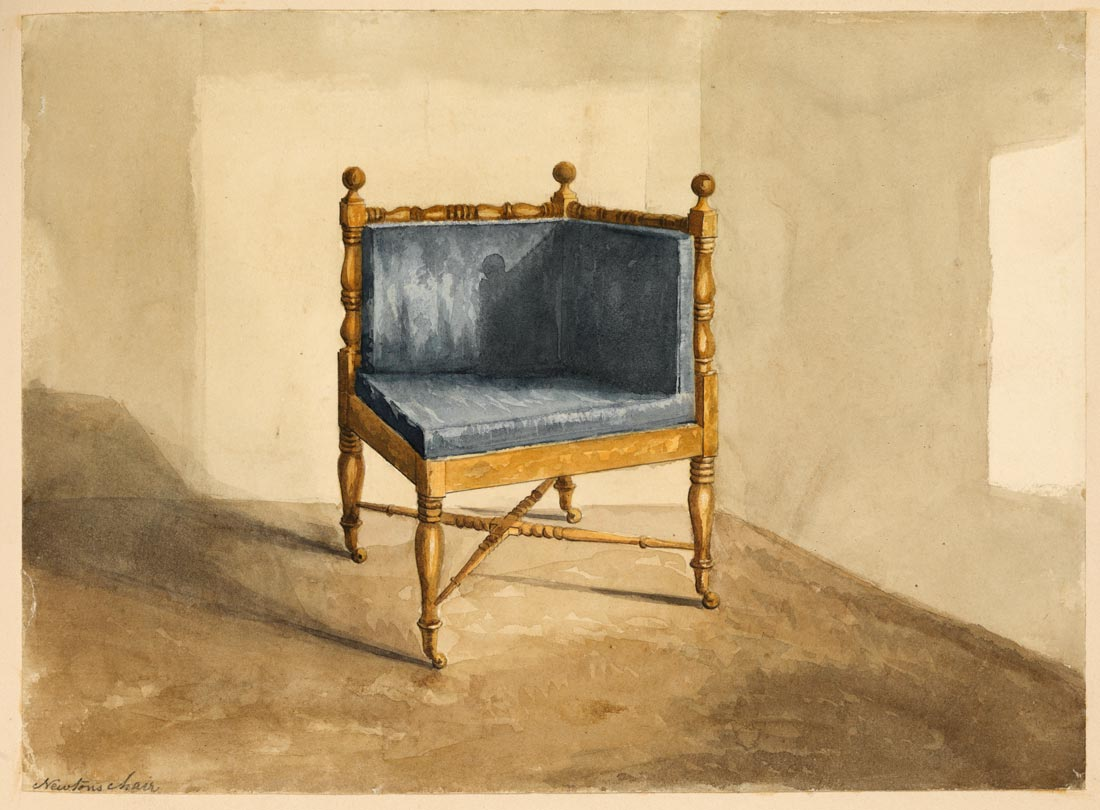 Unknown - Newton's chair (made from wood from Newton's apple tree) c1800s © The Royal Society