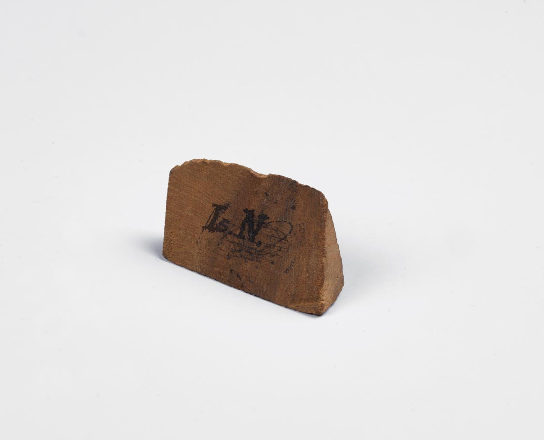Fragment of apple wood supposedly from ancient apple tree at Woolthorpe Manor © The Royal Society