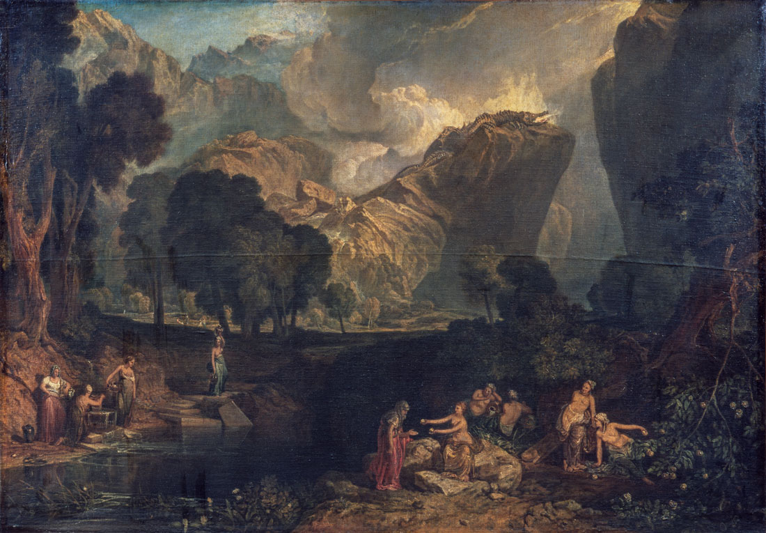 JMW Turner - The Goddess of Discord Choosing the Apple of Contention in the Garden of the Hesperides 1806 © Tate