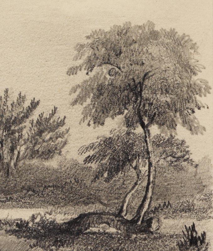 Detail from George Rowe - Woolsthorpe Manor c1840 © The Royal Society