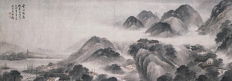 Wu Qingyun - Rain in the Cloudy Mountains (1919) © Ashmolean Museum
