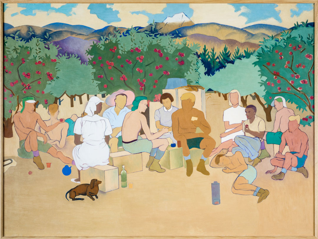 Rita Angus - The Apple Pickers 1944 © The Suter Art Gallery Te Aratoi o Whakatū